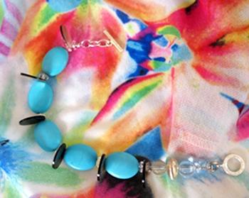 My Turks& Caicos fun bracelet, see me floating in the turk ocean.