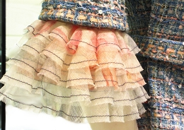 """Ruffles for """"Printemps Precieux"""" inspired by Coco Chanel."""