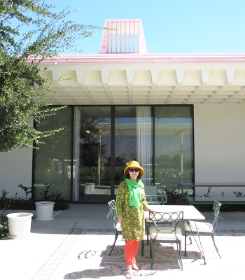 An afternoon at the terrace at Sunnylands.