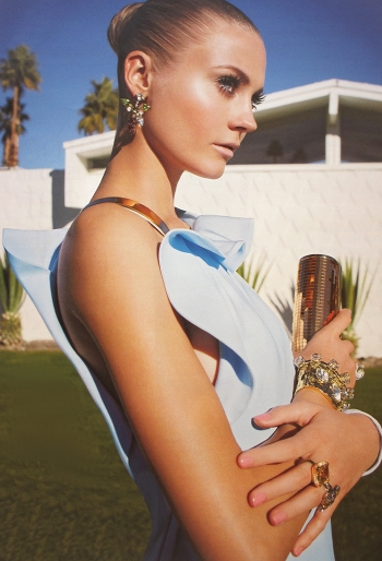 Powder blue Givenchy gown at the W. Krisel Estates in South Palm Springs.     photo credit: see below