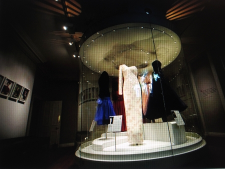 Display of gowns designed for Diana, Princess of Wales.