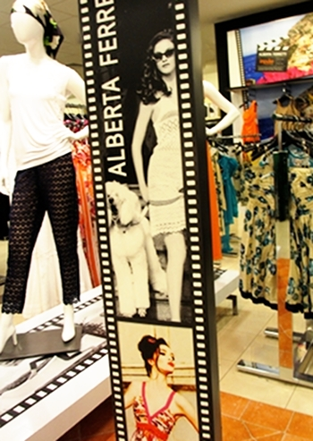 Like the blue pants, Shop Alberta Ferretti, Macy's. Summer fun.