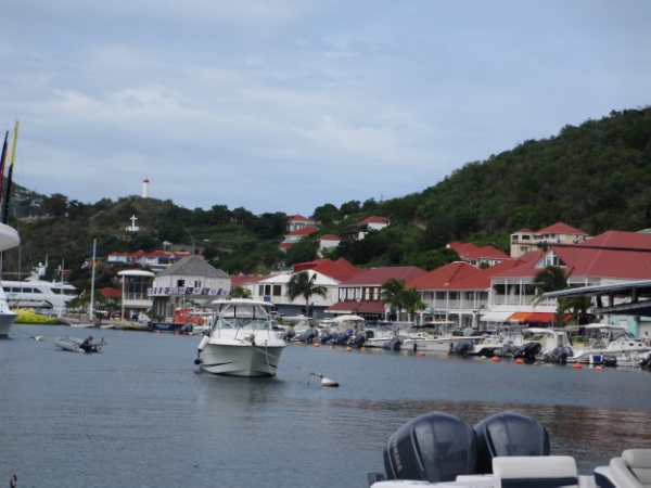 We arrive at the harbour in St. Barth
