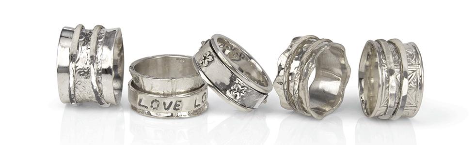 Silver Meditation Rings