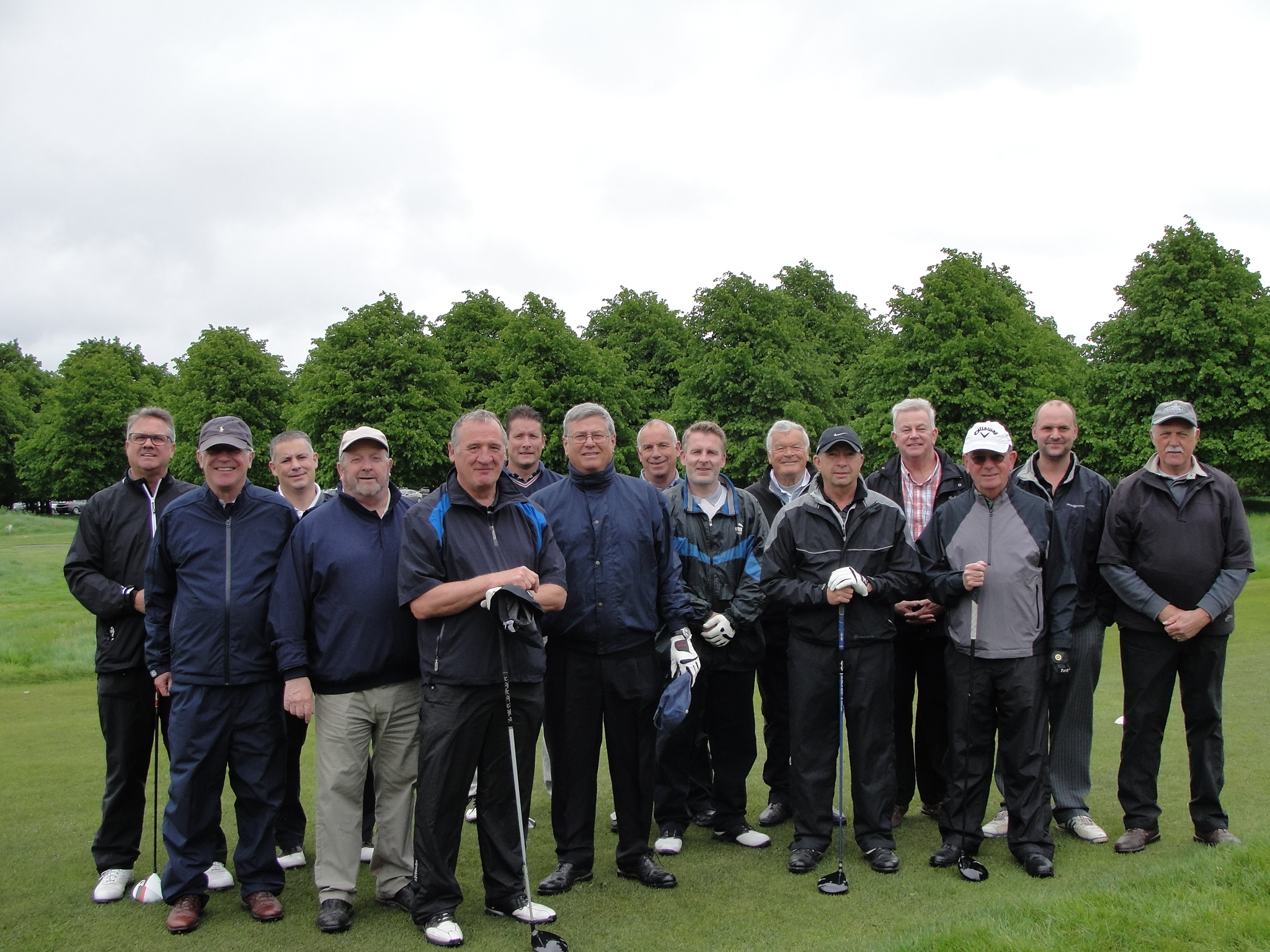 "The 14 players plus Captain ""Faldo"" Bothwick  Hampton Court"