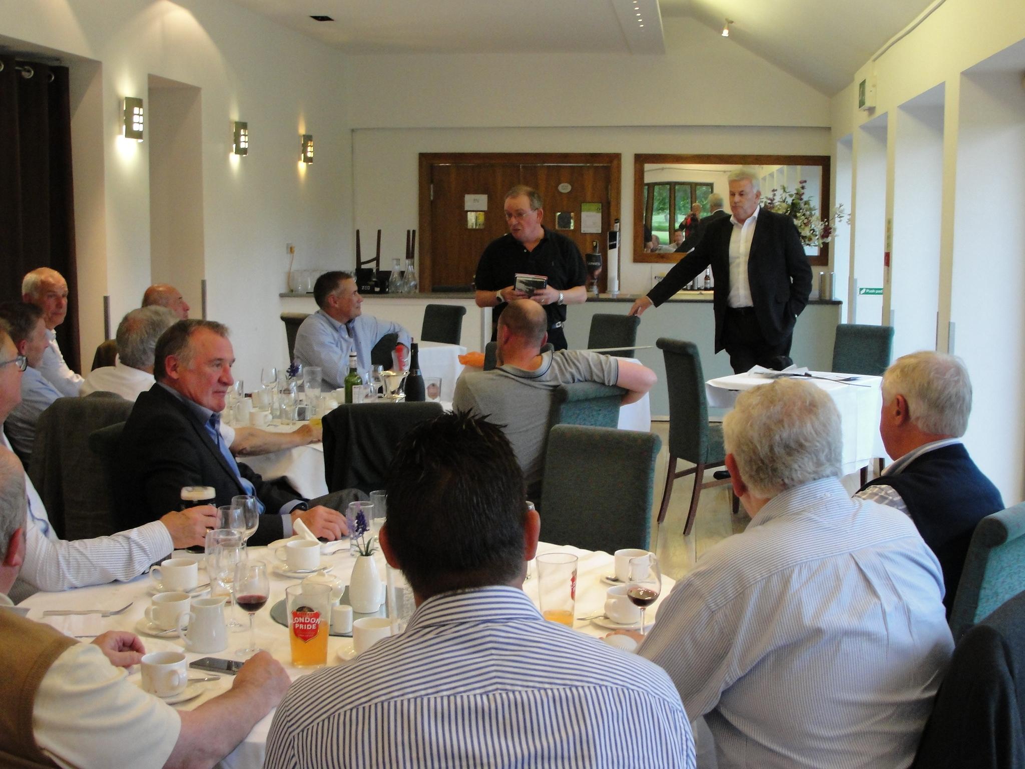 "Presentation of the Jacklin book to ""Jacko"" Steidl  Hampton Court"