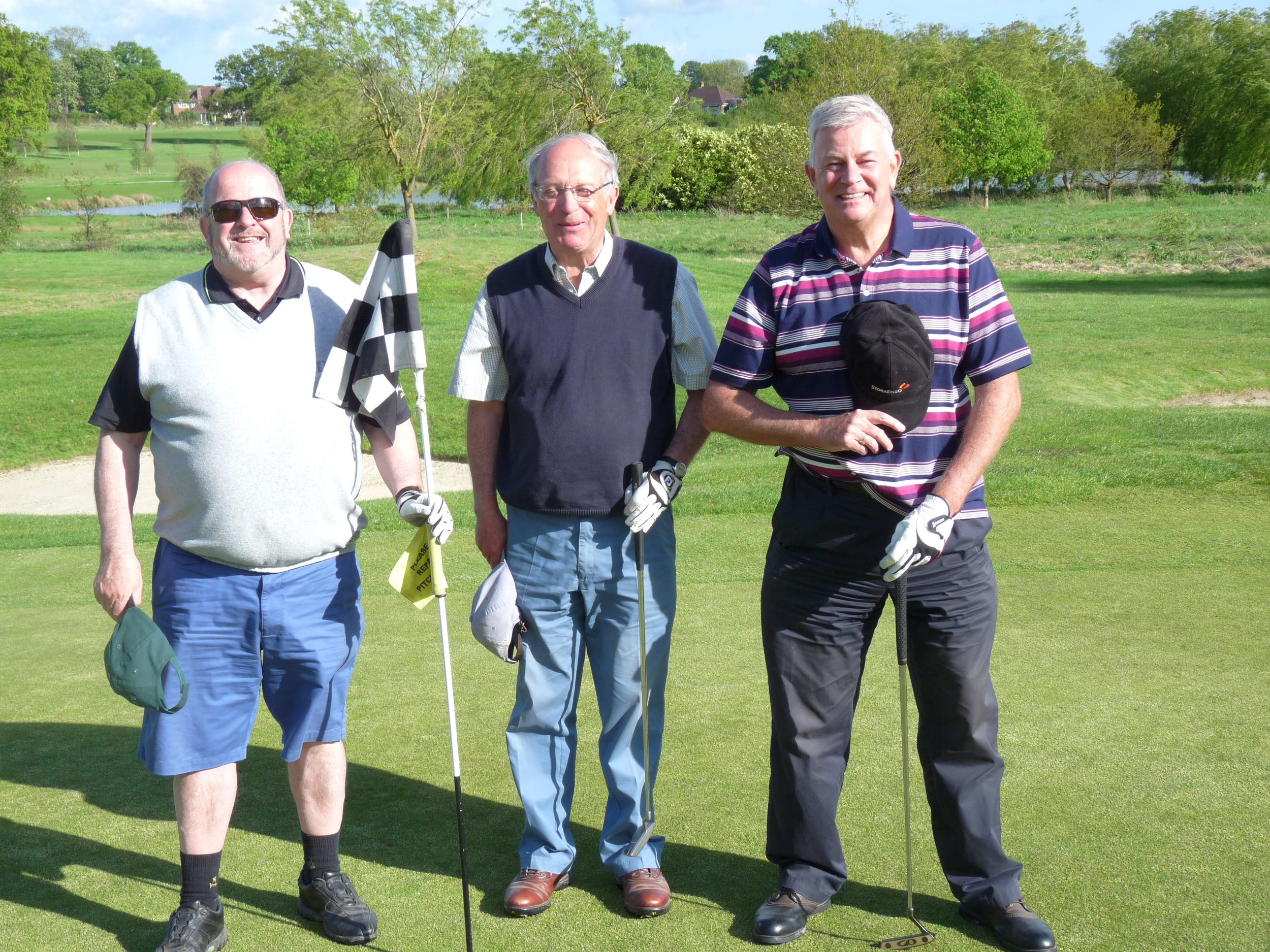 Mike Gee, Martin Triggs & our Captain