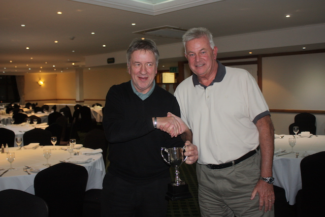 Andy receives the Steve Beckett SHANKS Trophy