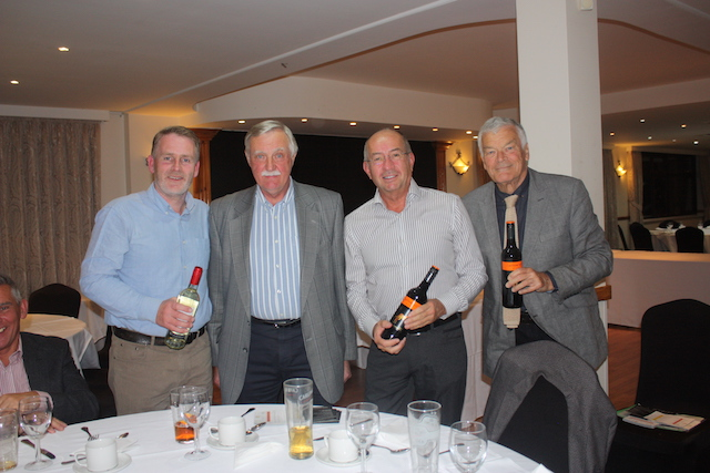 Yellow Ball winners Team D receive their prizes
