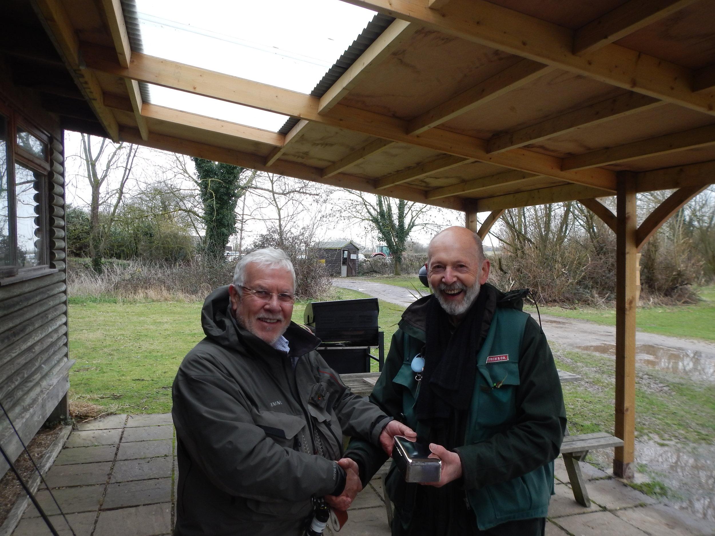 2018 Presenting Monk Trophy to Alan Badcock