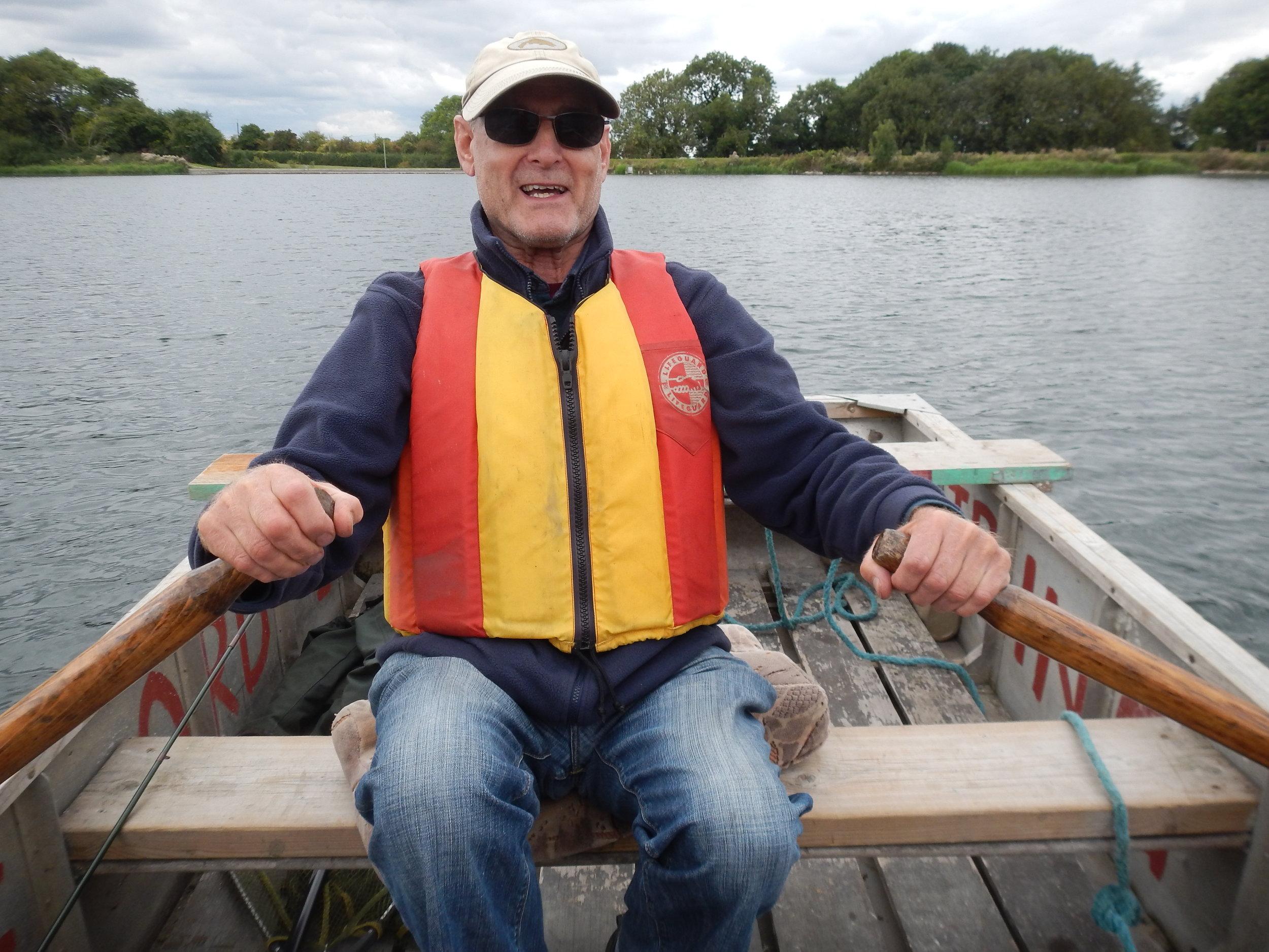 Gerry on Oars