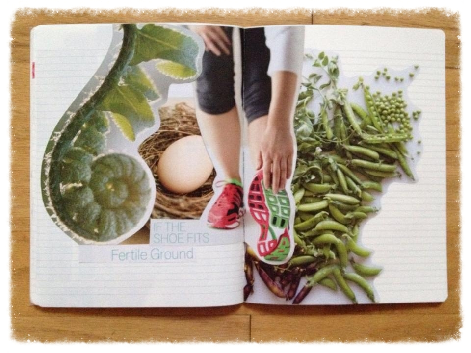 A collage spread I created through Hannah Marcotti's visioning course Spirits of Joy.