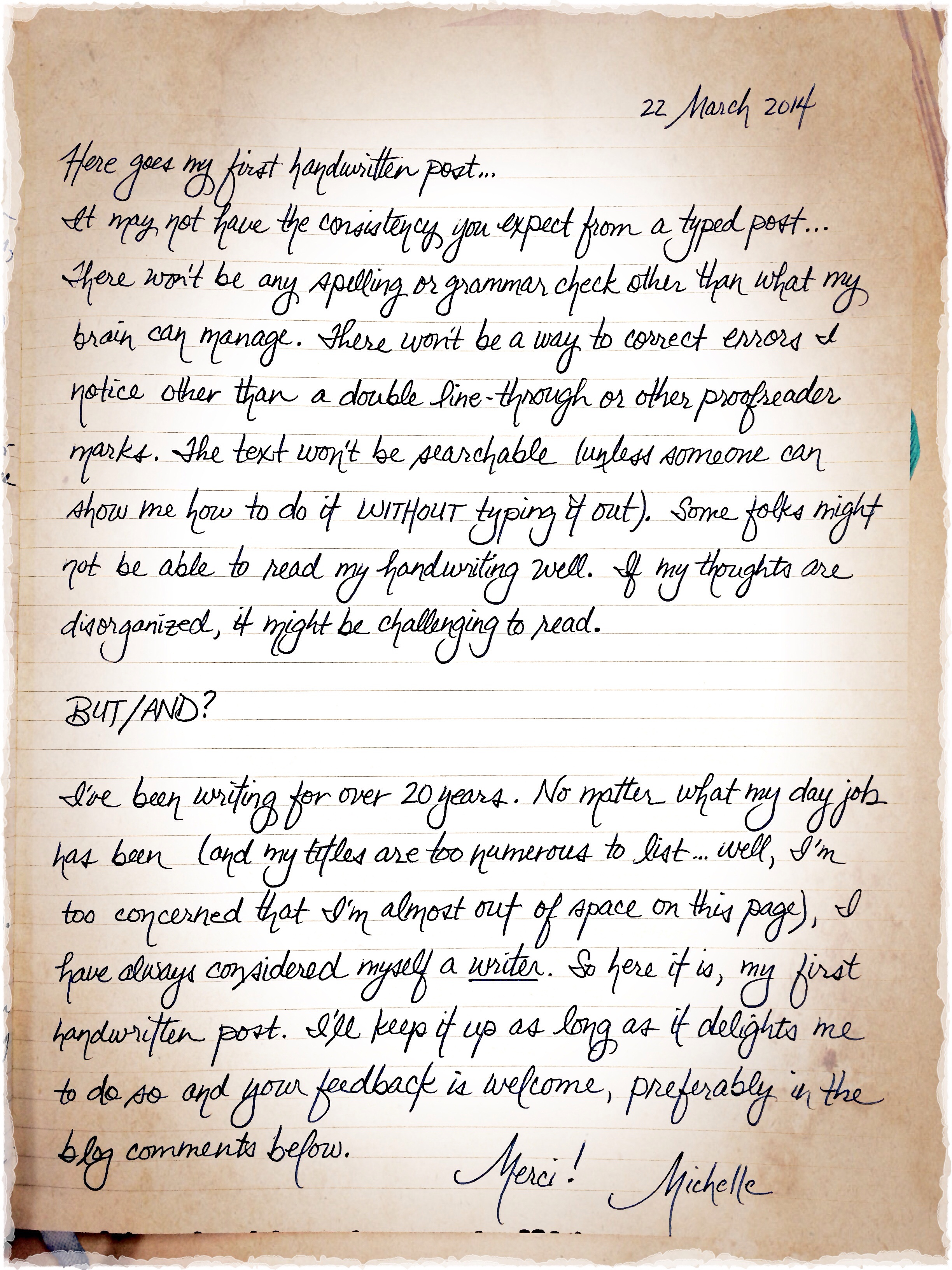 Handwritten Blog Post - Attempt #1