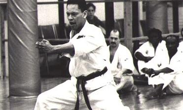 Shuseki Shihan Leighton demonstrating a kata.
