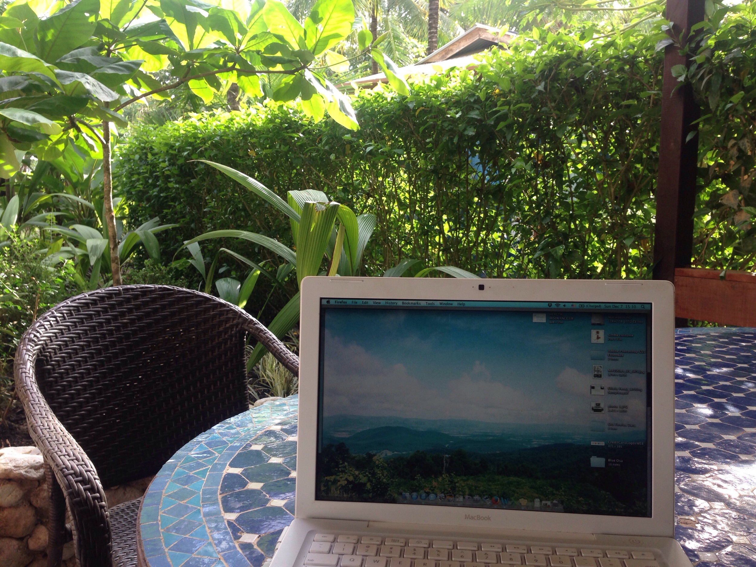 My time here isn't all play. I am working on Blue Osa's blog and social media as a writer, and have full days writing and proofreading near beautiful scenery, while trying to squeeze in yoga practice.