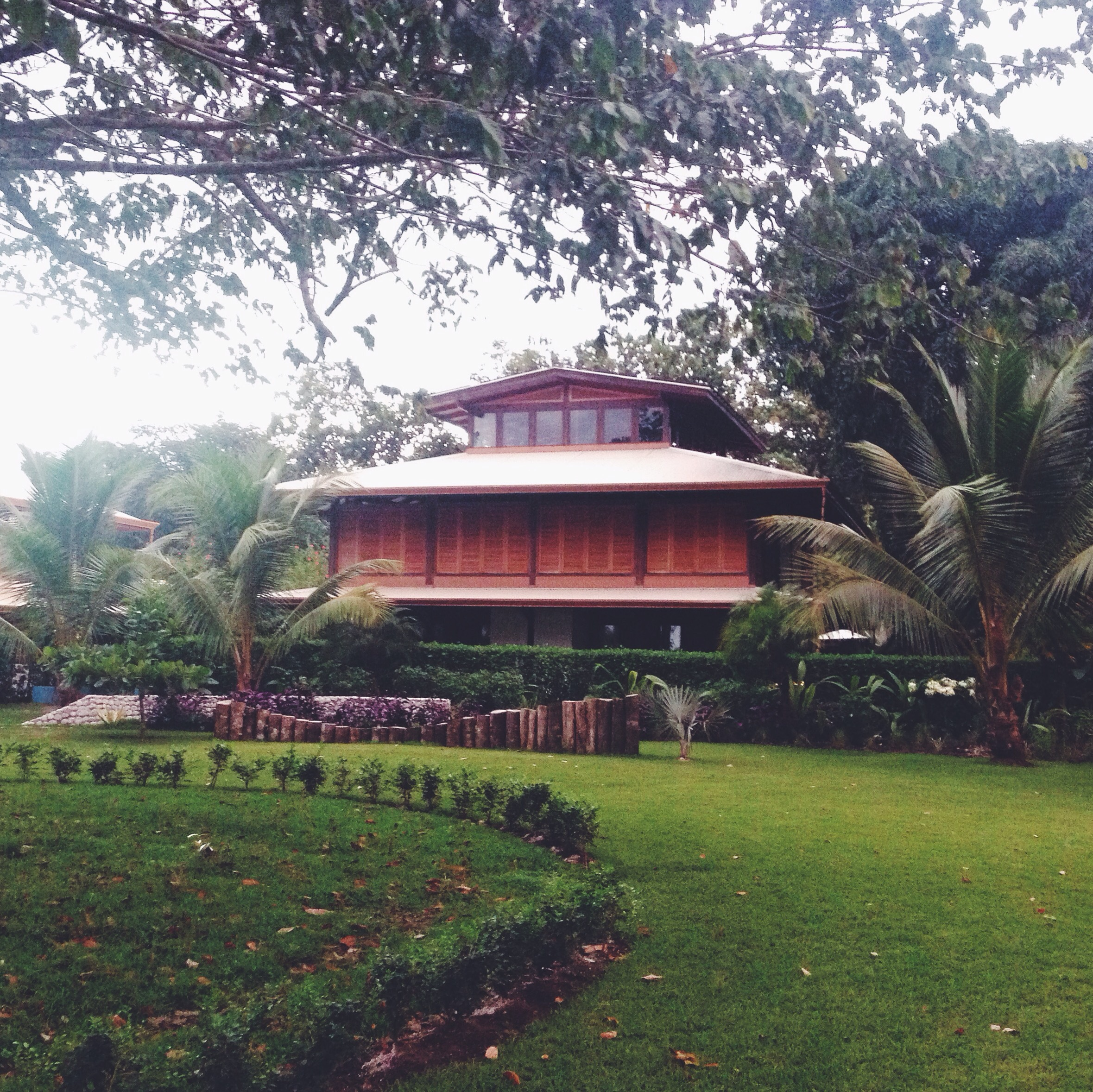 """The Blue Osa grounds were exquisite. A striking contrast from the road we'd just befriended, the Osa was draped in jungle greenery that screamed """"Pura Vida!"""", presented amongst chic, minimalist landscaping and architecture."""