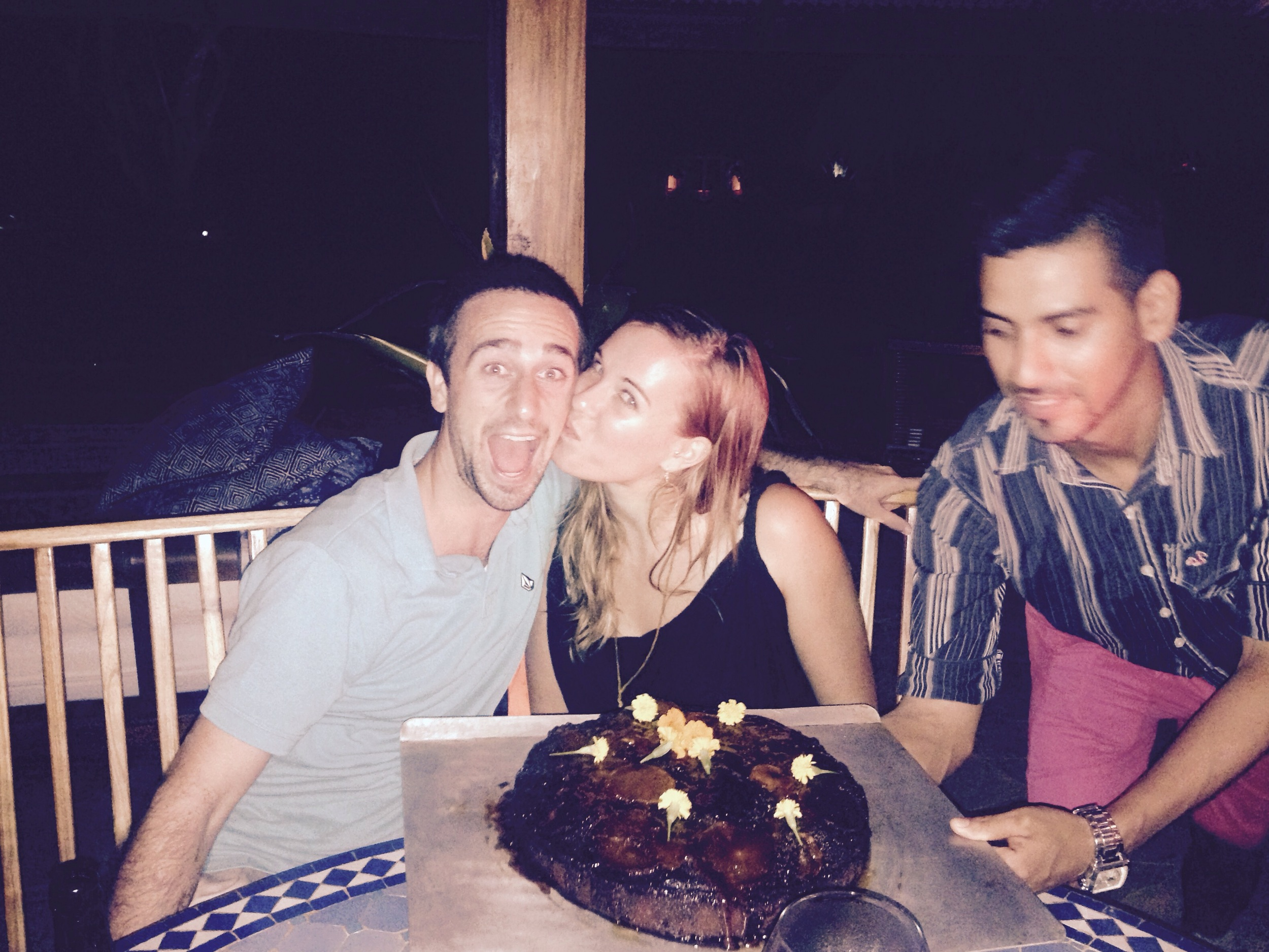 Last week was Dan and Casey's last night. That meant CAKE for dessert!