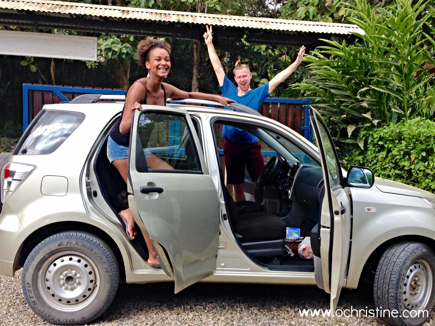 Alex and I rented a car and headed out to explore Dominical, Monteverde, and everything in between.  It started off with Alamo over charging me and then bringing a standard vehicle when I asked for automatic. Oh well, we survived.