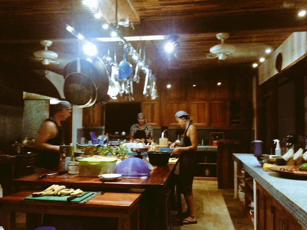 From the Kitchen of Blue Osa! With the staff gone for a week, we all pitched in around the kitchen