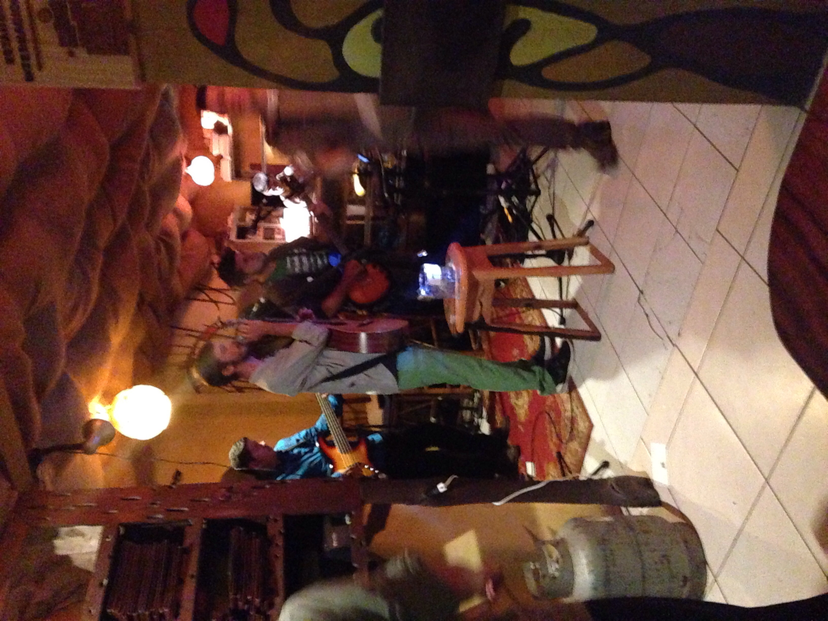 Open mic at the Tree House Restaurant & Cafe