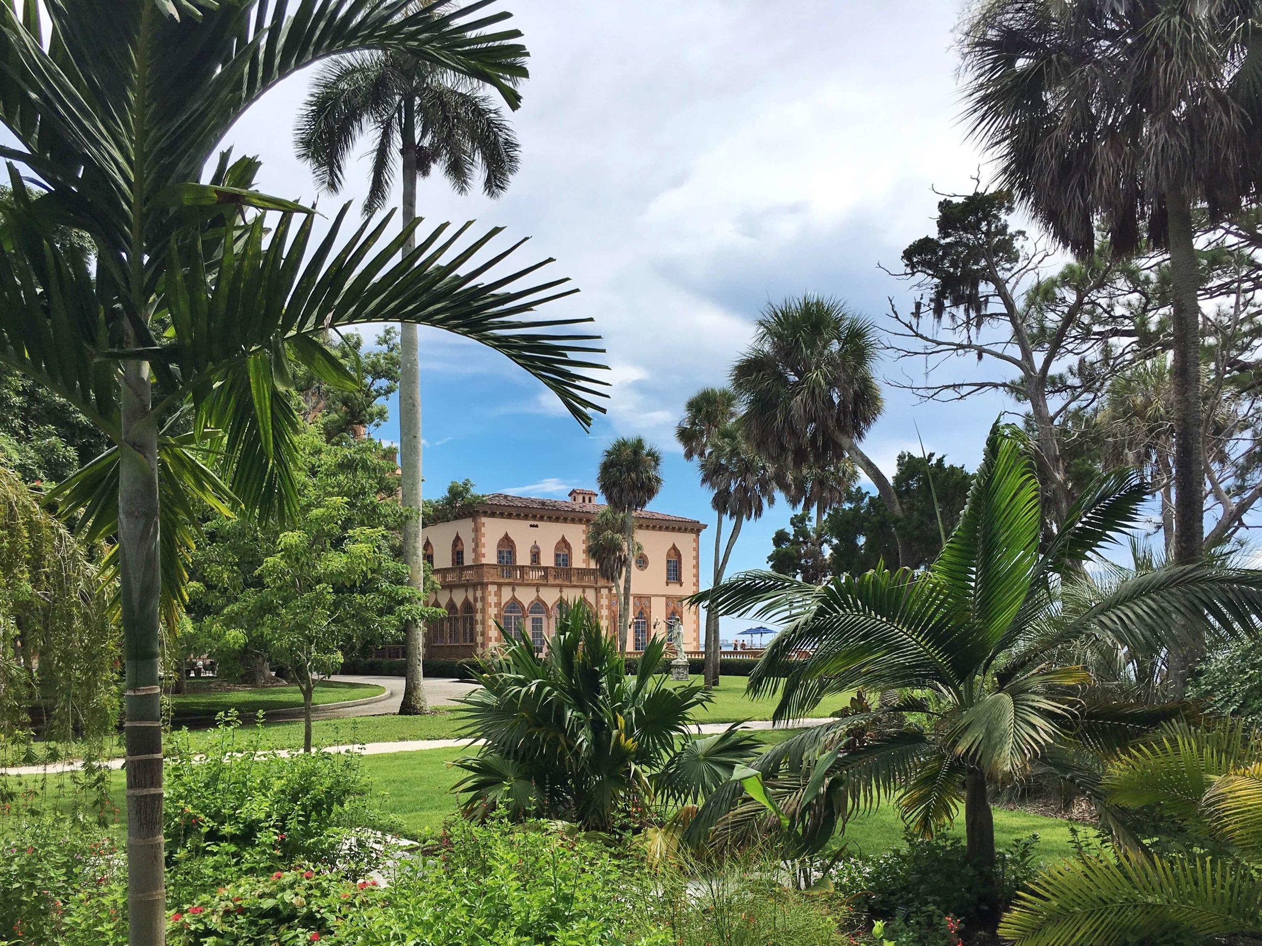 Ca' d'Zan: view from the secret garden