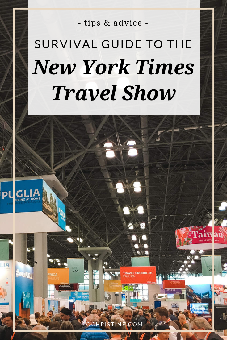New York Times Travel Show Survival Guide and Wellness Tips - ochristine