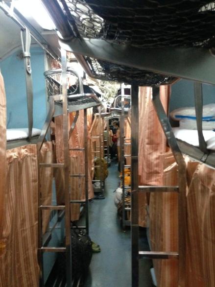 Sleeper train in Thailand