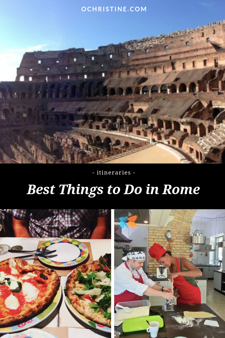 Rome itinerary - planning a trip to rome - ochristine