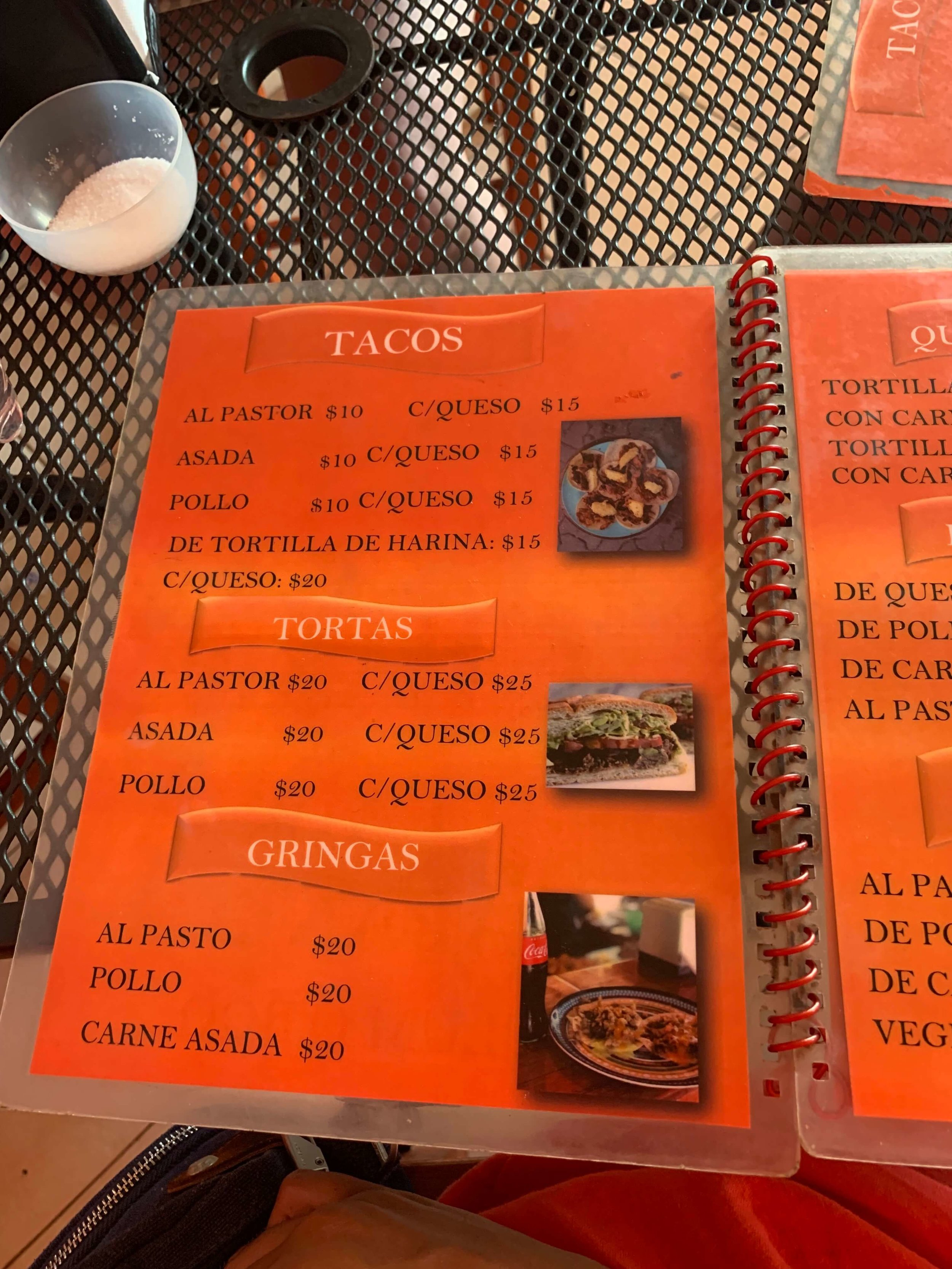 Antojitos la chiapaneca menu | Tulum Pueblo