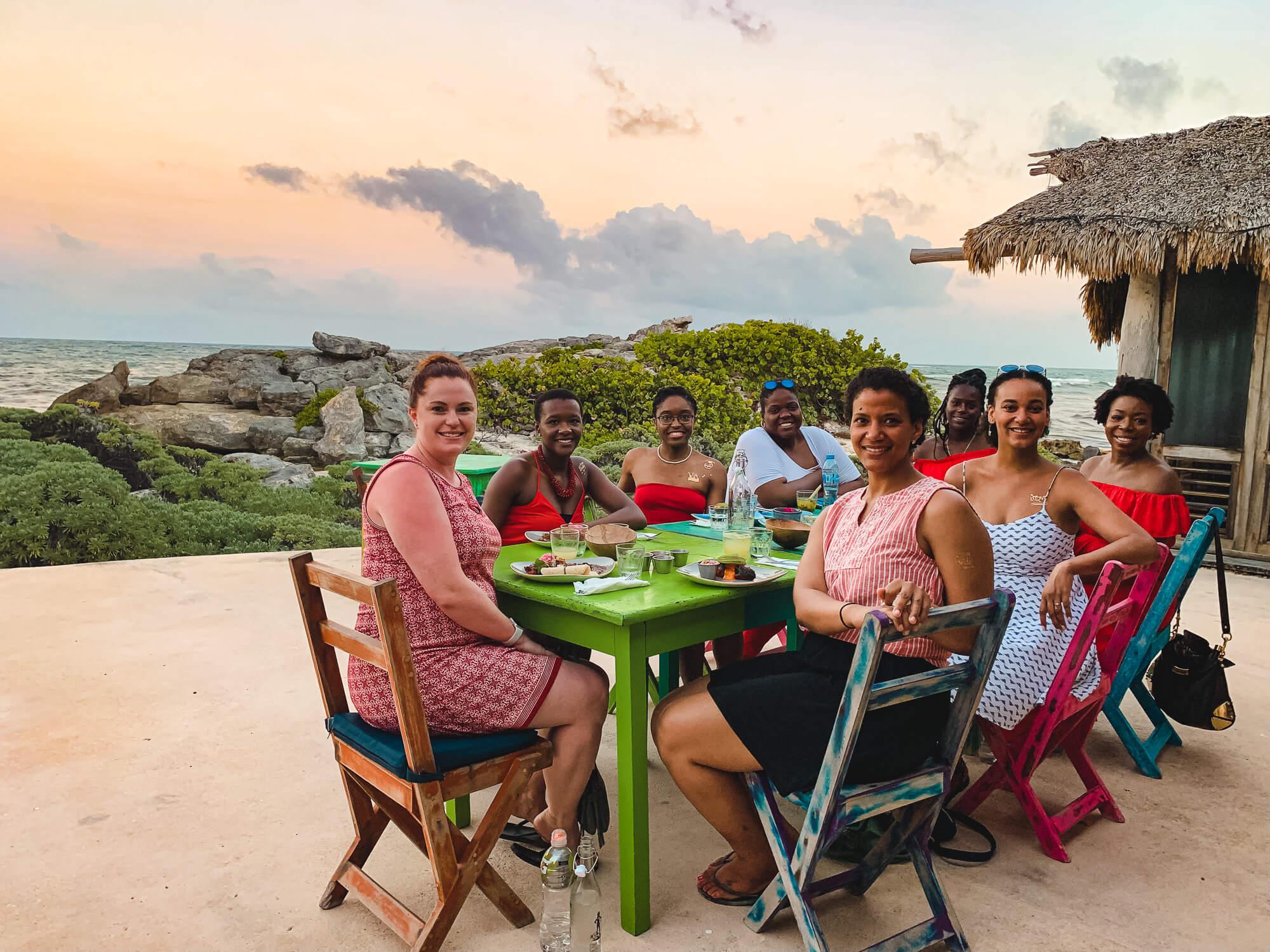 Sunset Group Dinner at Zamas Tulum