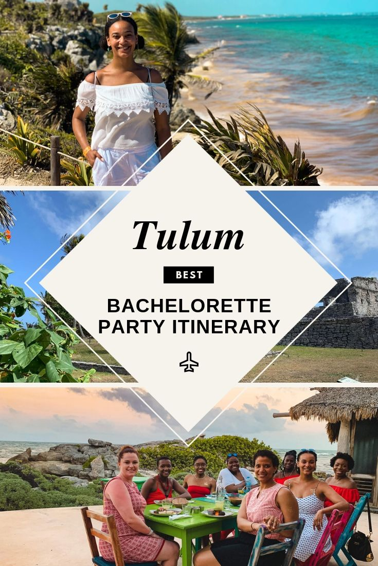 The best bachelorette party Tulum itinerary or girls trip guide to Tulum.
