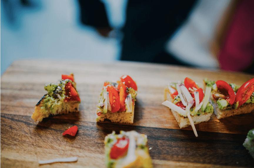Avocado toast wedding hors d'oeuvres