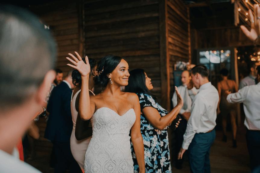 Wedding reception dancing at Terrain at Styers