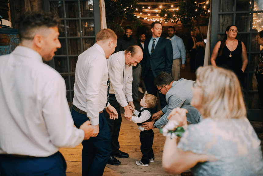 Dancing in the Garden Shed at Terrain at Styers wedding