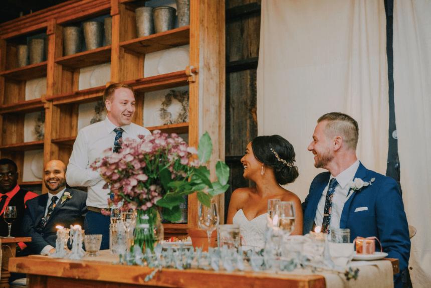 Best man's speech at wedding. Terrain at Styers