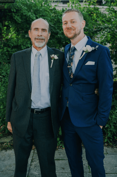 Groom and father of the groom family wedding photo Photo credit: Alex Medvick Photography