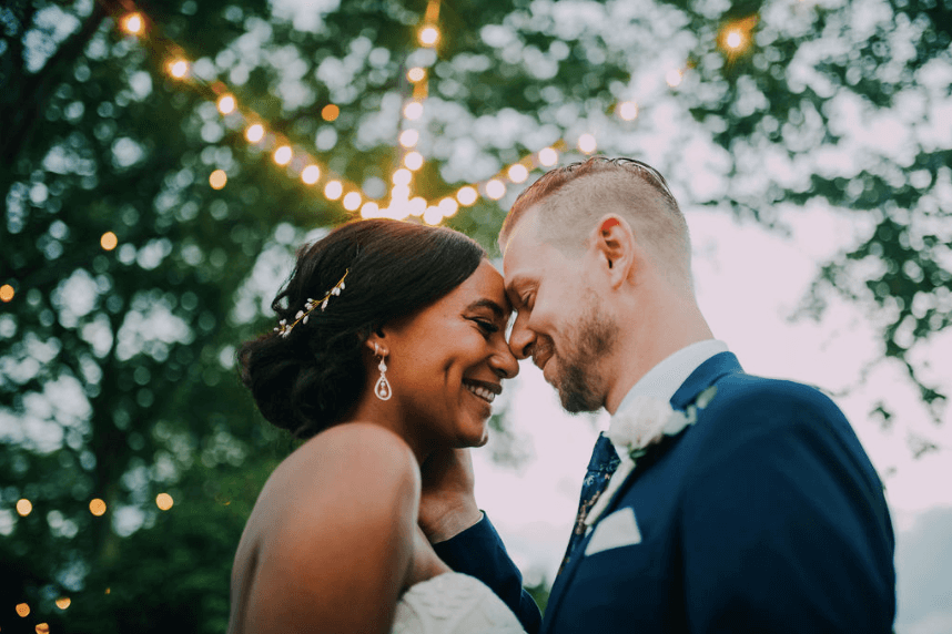 Interracial couple getting married Photo credit: Alex Medvick Photography