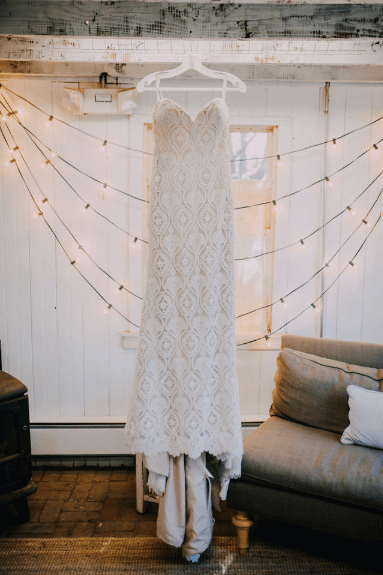 BHLDN bridal gown - Whispers & Echoes Lilac wedding dress Photo credit: Alex Medvick Photography