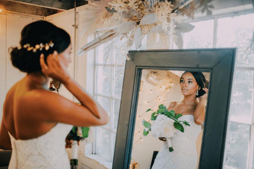 Black bride   Afro latina bride - Terrain wedding Photo credit: Alex Medvick Photography