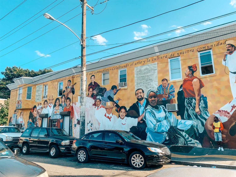 Community mural in el centro de oro Philadelphia
