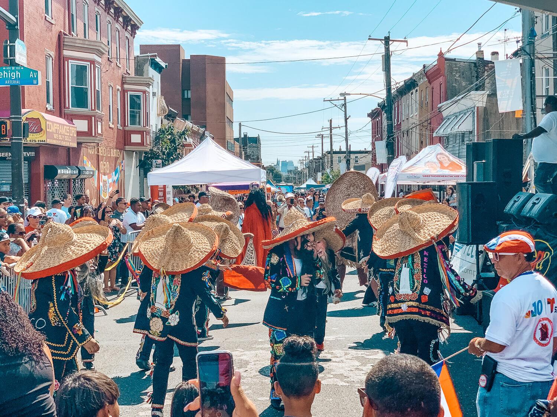 Los tecuances at feria del barrio in Philadephia