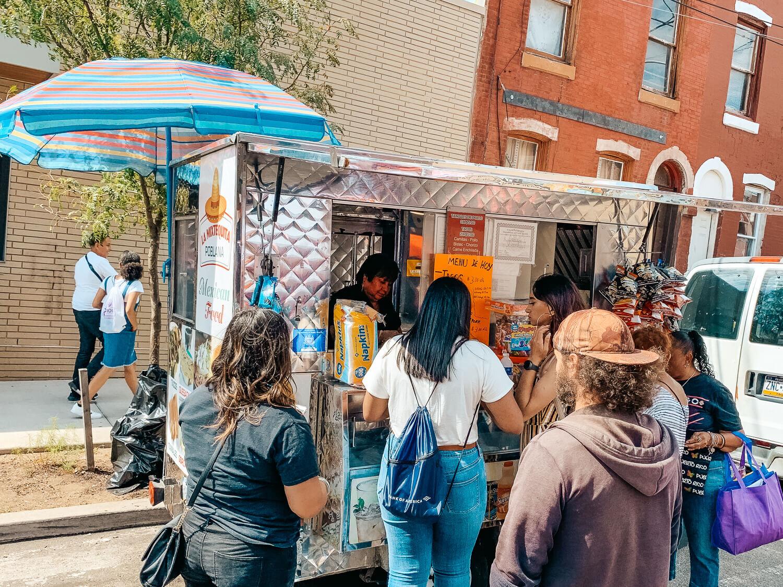 Mexican food truck at Feria del Barrio in Philadelphia
