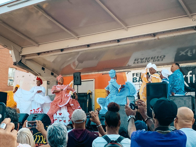 Ballet folklorico hermanos ayala onstage at feria del barrio in Philadelphia