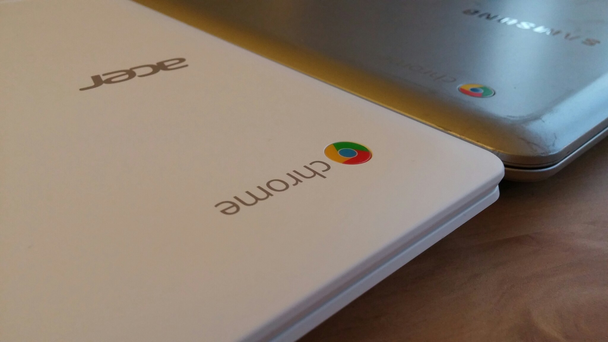 All Chromebooks are adorned with Google's Chrome logo