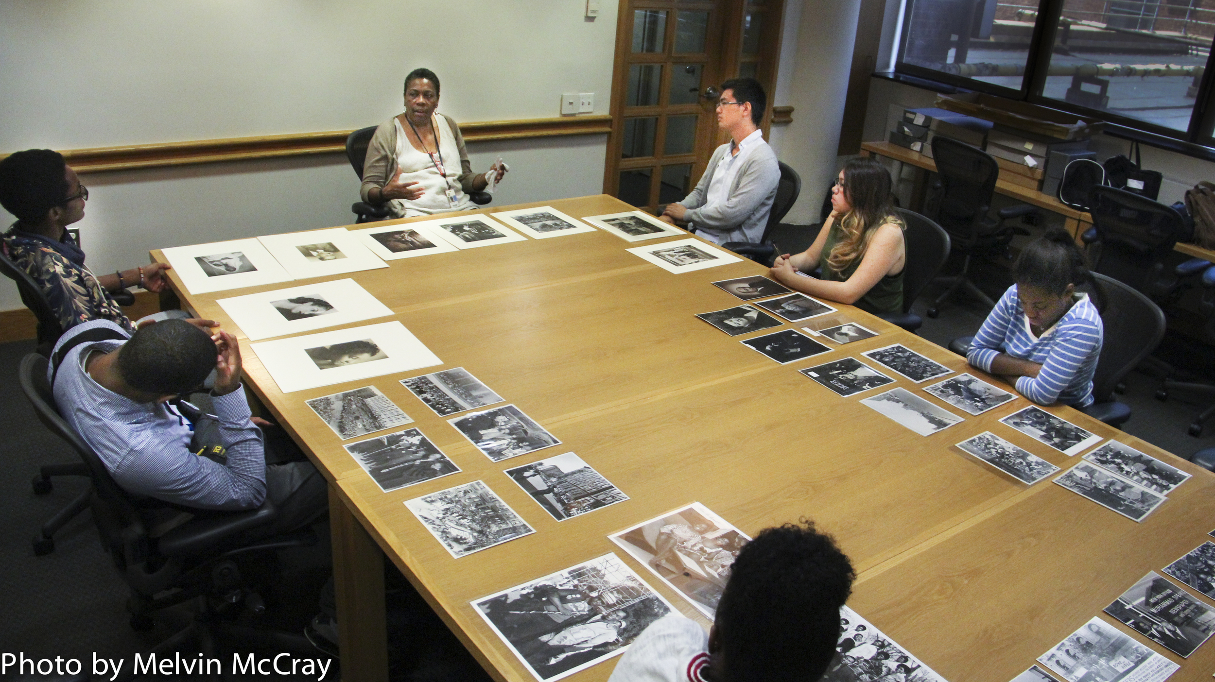 Mary Yearwood photography curator at the Schomberg Library letcuring to DMTP Students-27.jpg