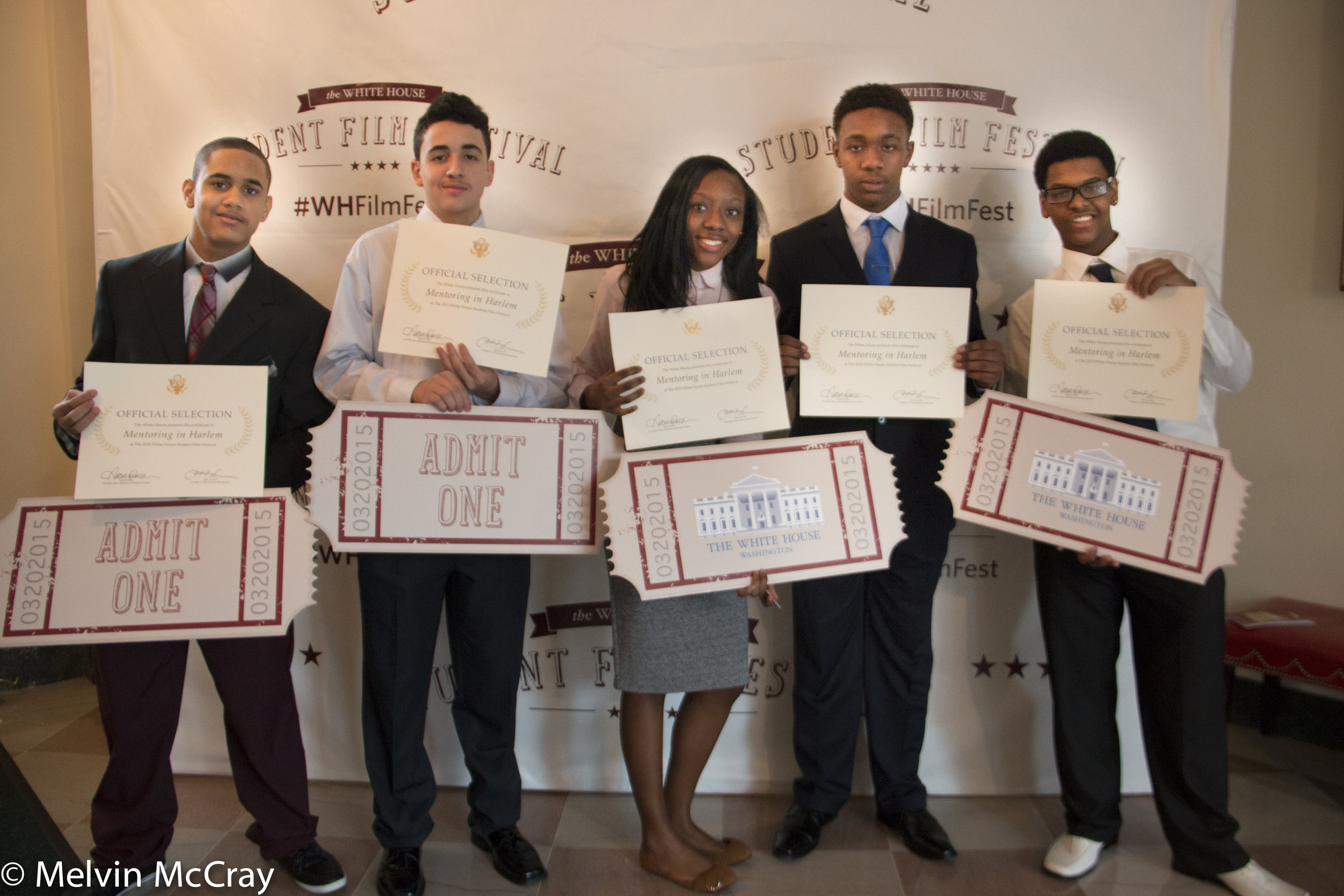 Daviid Maxwell, Jared Colozzo, Janayah Nicholson, Ojani Johnson and Chazz Johnson 2015 Winners