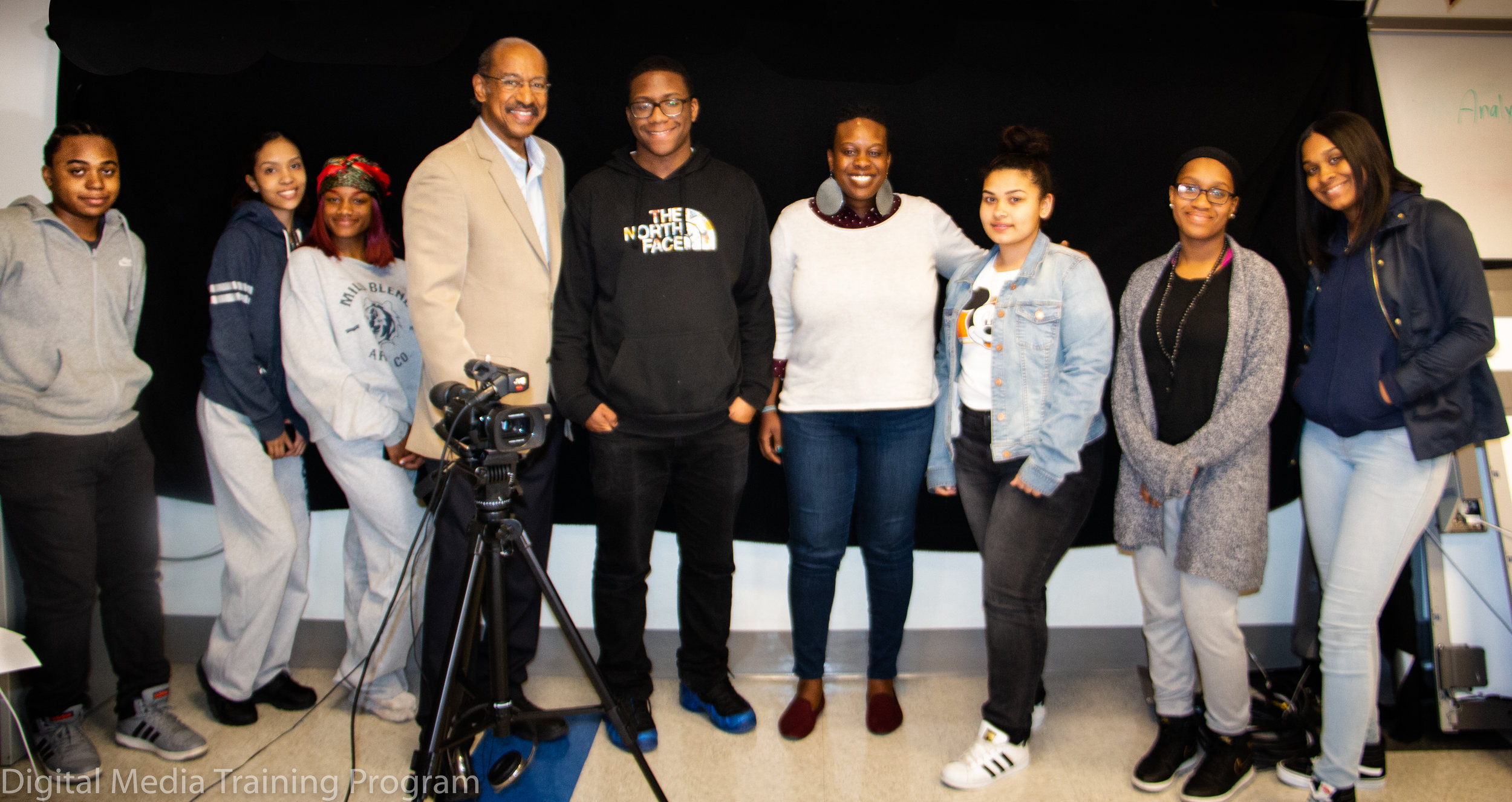 Melvin McCray and Kyndra Frazier with New Explorer students.jpg
