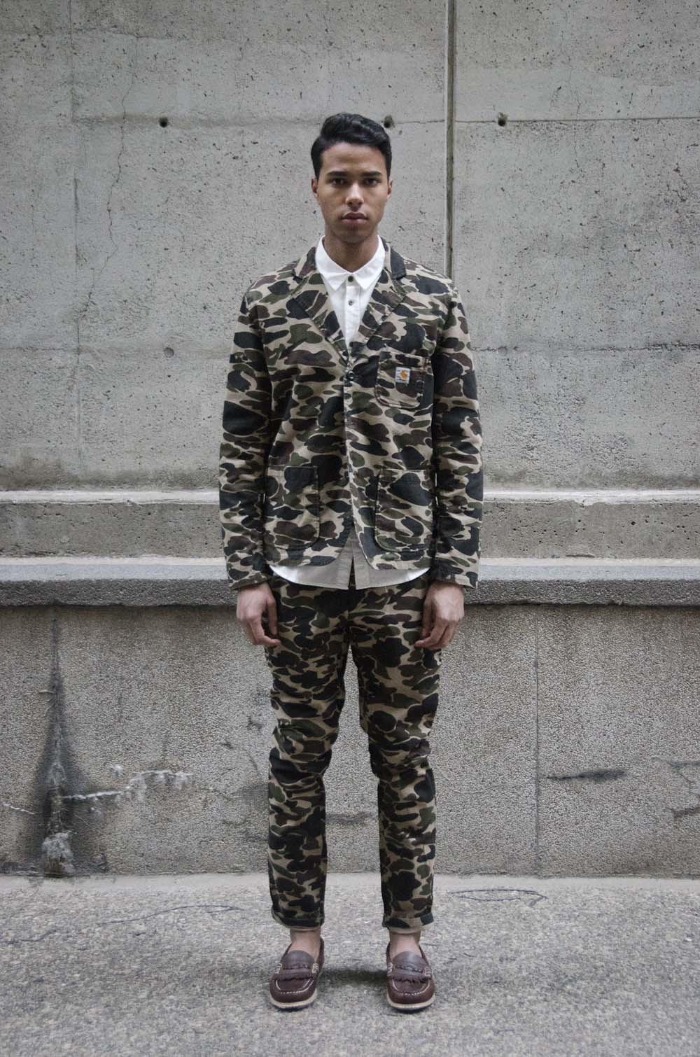 I Love Ugly white formal shirt   NE Outerwear Co shoes   Carhartt Rebel Pants   Carhartt Sid Blazer