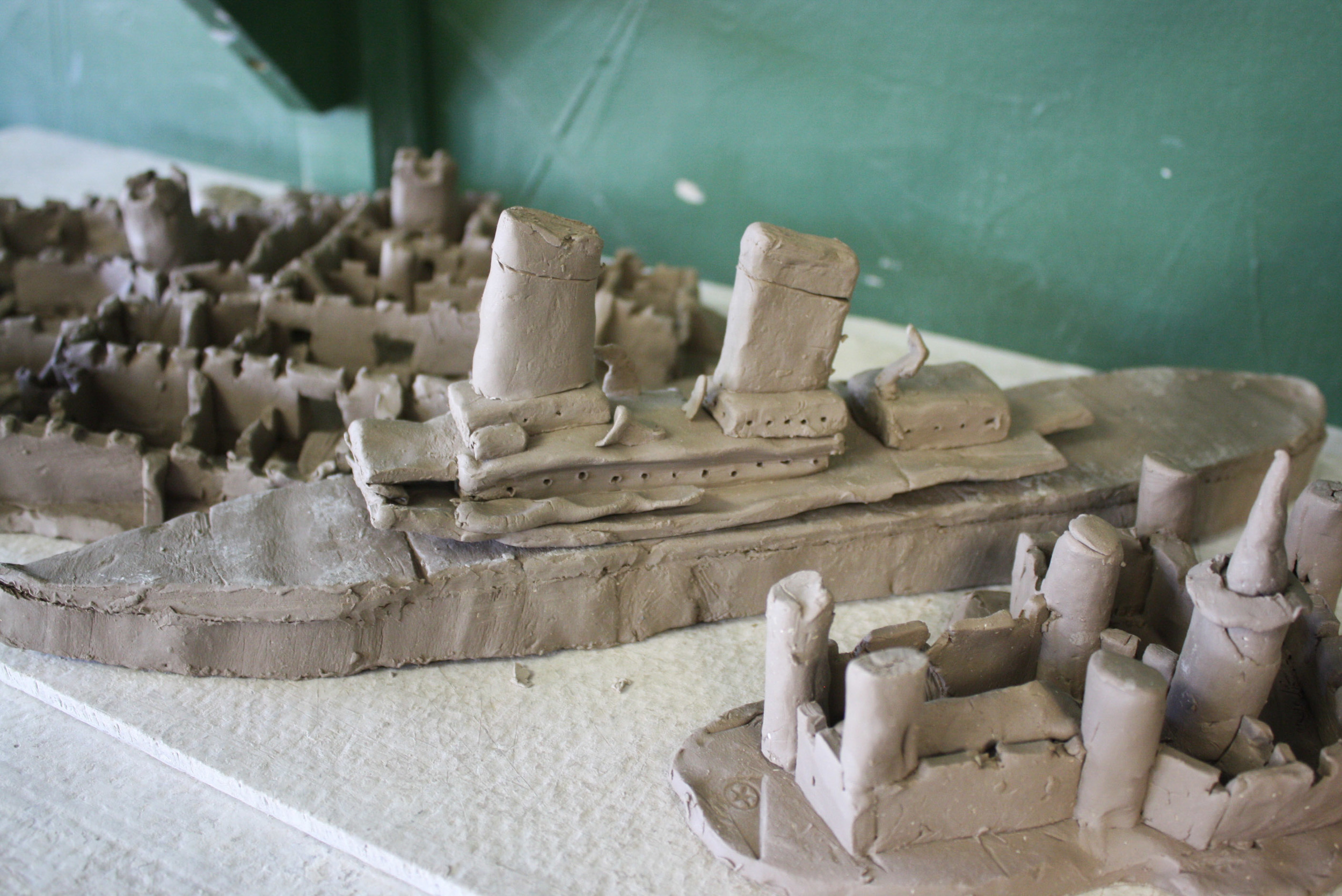 Kevin's 11-year-old nephew created these ships, which I thought were beyond-cool