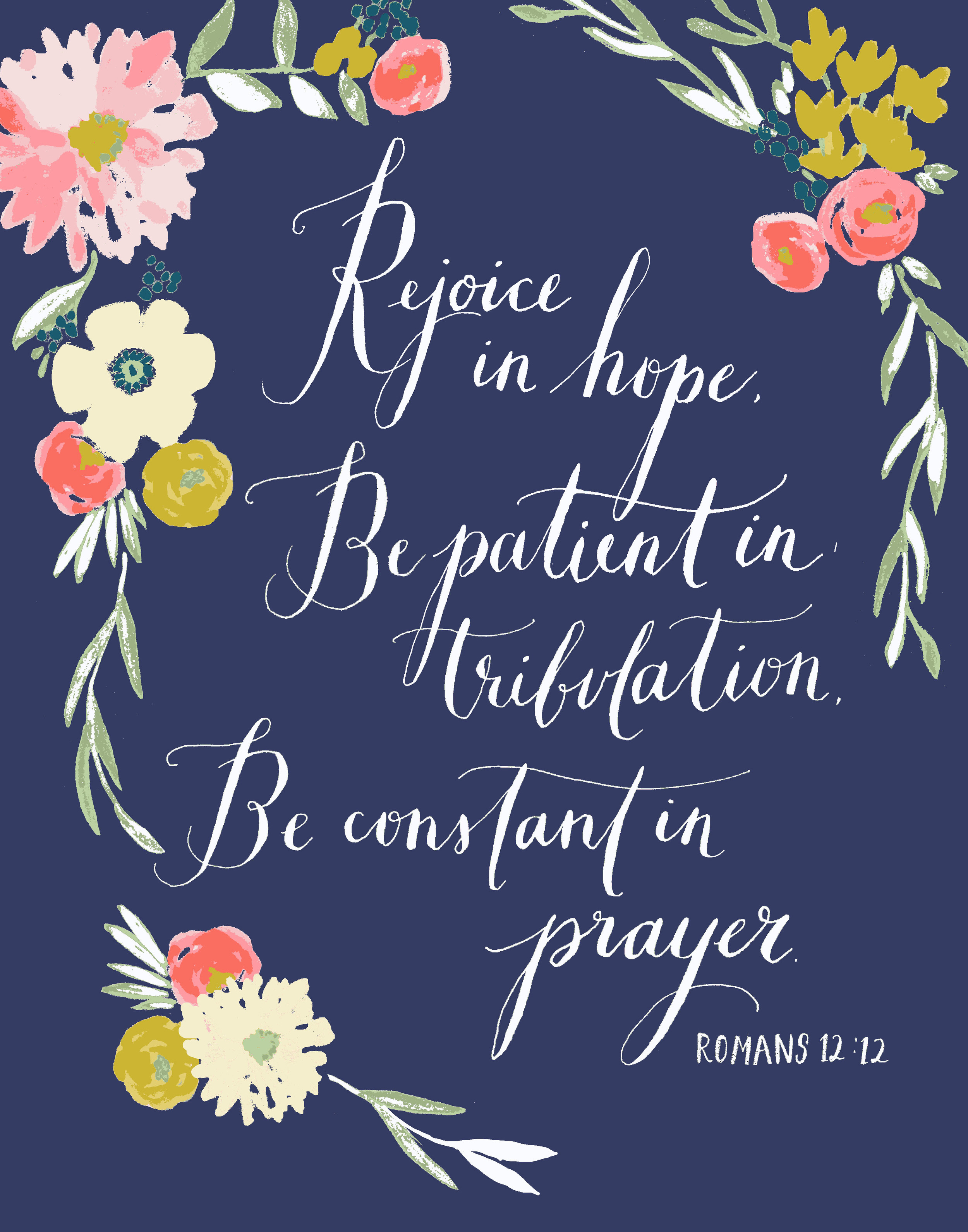 abby hyslop Rejoice in Hope print